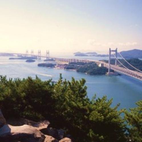 【鷲羽山展望台】 展望台からは瀬戸内海の絶景が!