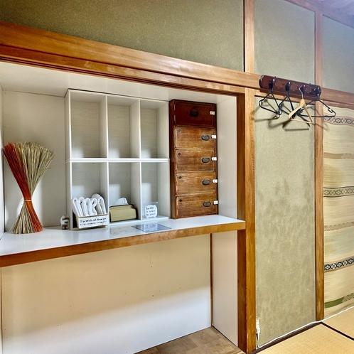 ドミトリールームには、収納ボックスとセーフティーボックスがあります。