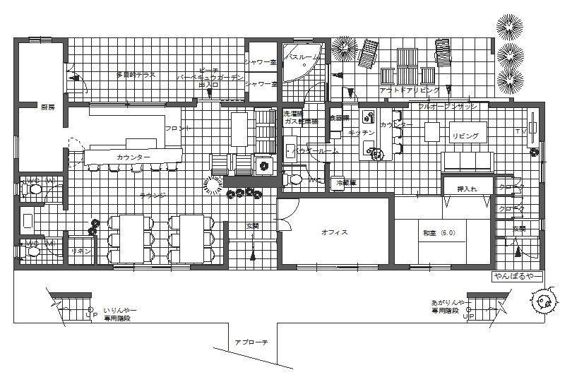 1階ビーチ直行庭付やんばるや〜51平米&ラウンジ