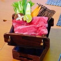 【春の味覚会席】熊野牛の温泉蒸し