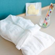 【お子様アメニティ】パジャマ(ワンピース型110/130cmサイズ)・バスローブ ※無料・要事前予約