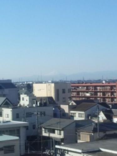 5階角部屋からは富士山