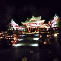 足利 織姫神社の素敵なライトアップ