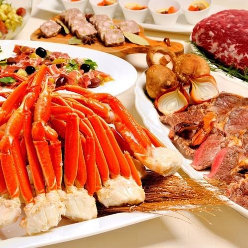 ステーキ&蟹ブッフェイメージ