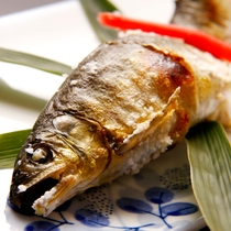 会席一例 焼き魚