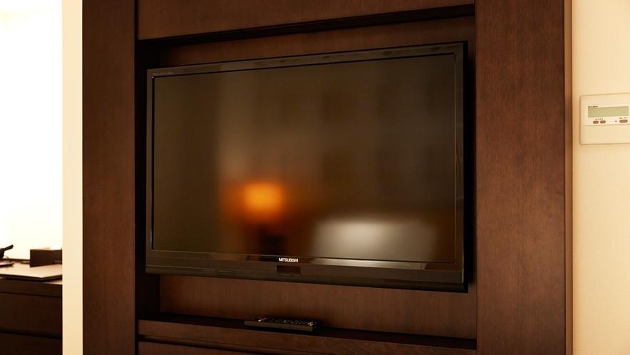 全客室に40インチ液晶テレビ完備