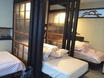 ゲストハウスのベッドです