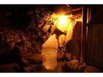 洞窟風呂夜景