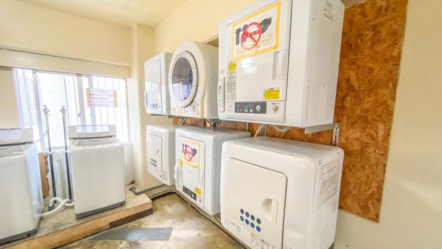 洗濯機と乾燥機はご自由にお使いください♪