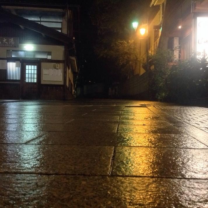 玄関前の夜景
