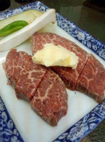 熊野牛ステーキ 一例