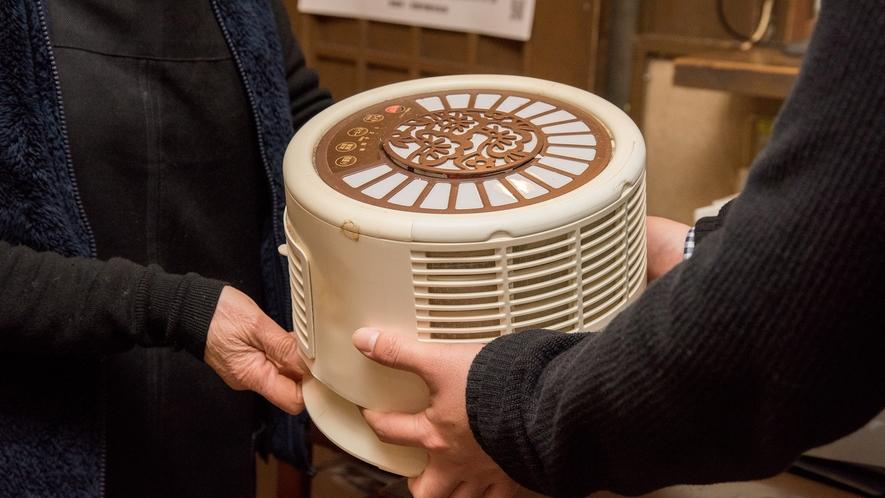 *【暖房のレンタル】冬は冷え込む大原。フロントで追加の暖房器具もレンタル可能