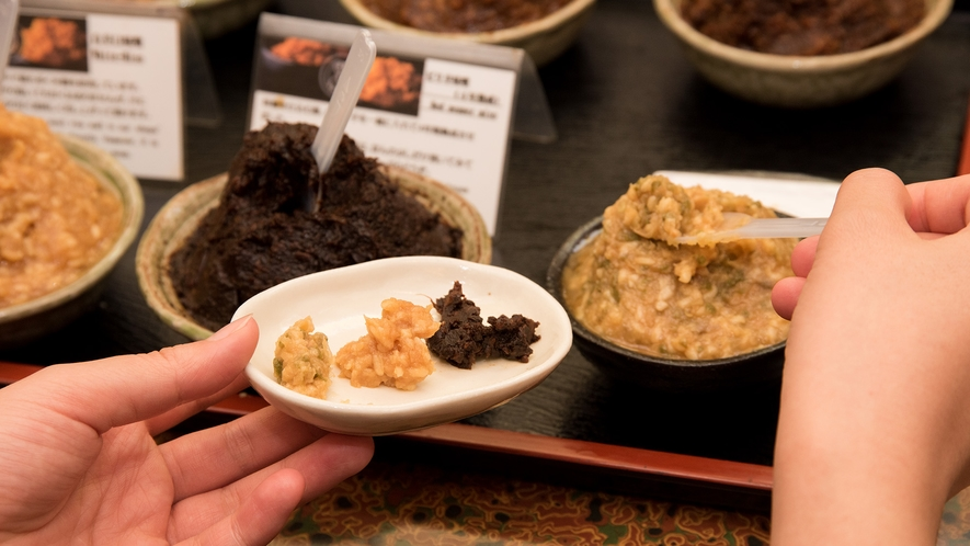 *【セルフ味噌】味噌庵で販売しているお味噌も、お試しでお味見ができます