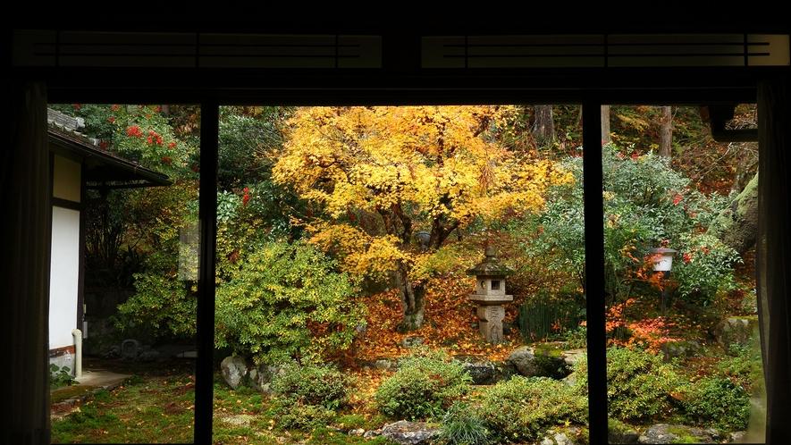 *【中庭の紅葉】素朴な美しさをそのまま生かした中庭。こちらも秋は紅葉がきれいです。