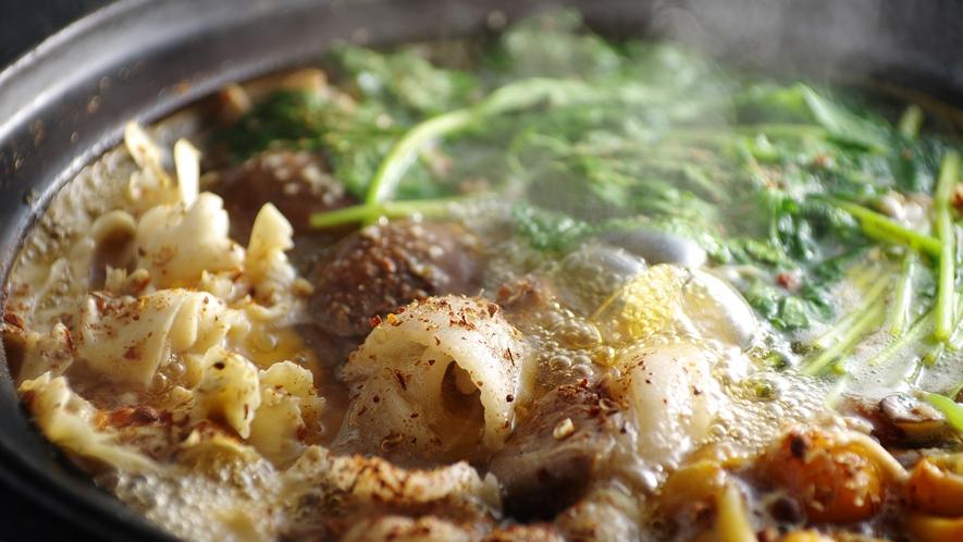 *【山椒ぼたん鍋】大原で採れた、粗挽きの天然山椒がたまらない!