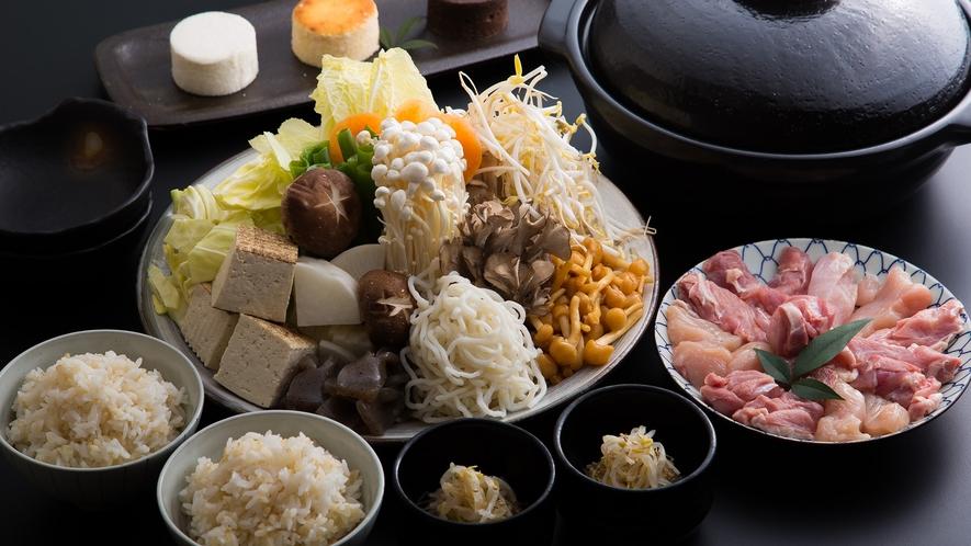 *【低糖質みそ鍋(京赤地鶏)】健康志向のお鍋!大原の里流自家製低糖質みそ鍋。