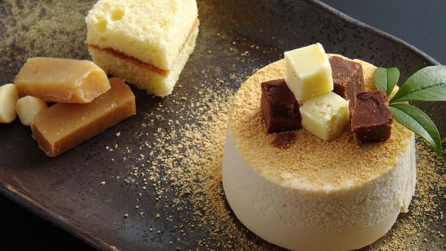 *【自家製デザート】自家製の生キャラメルやチョコレートは白みそがベース♪人気のスイーツです。