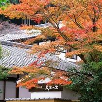【外観】自然豊かな大原で楽しむ秋。温泉民宿でお鍋をたべてのんびりどうぞ。