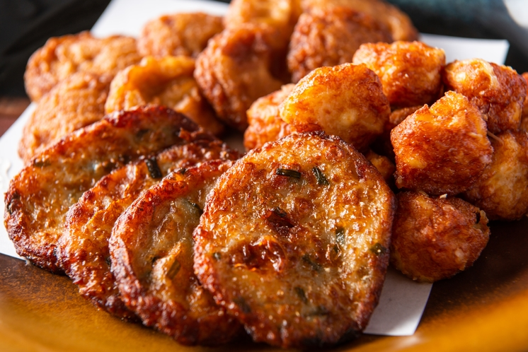 朝食ビュッフェ一例 鹿児島名物さつま揚げ