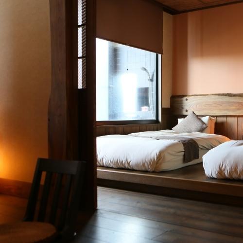 露天風呂付き客室【蔵心】(寝室)