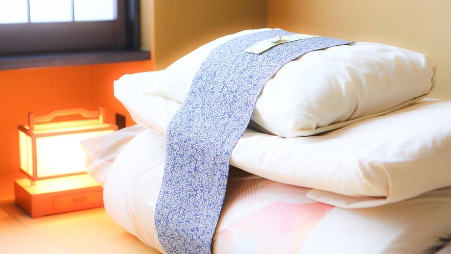 寝具はワンタッチでご利用可能!