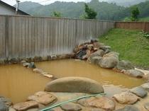 伊南にある古町赤湯温泉露天風呂の色見て