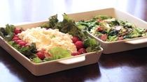 ポテトサラダと野菜炒め