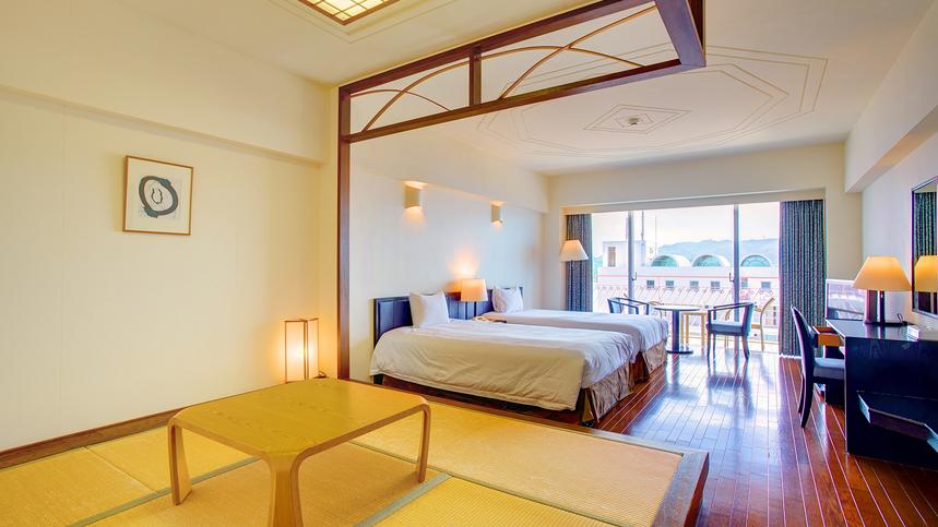 【スタンダードファミリー/和洋室】 畳スペース付きでファミリーに人気のひろびろ和洋室