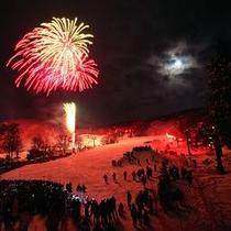 【蔵王樹氷まつり】蔵王で繰り広げられる雪と炎の祭典!上の台ゲレンデ目の前の当館でお楽しみください♪