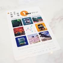 ■地下鉄・嵐電1DAYチケット
