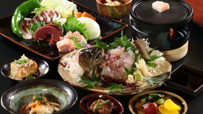 【山賊焼き御膳】美味しいジビエ肉の鉄板焼き!里山だからこそ味わえる逸品♪-2食付-
