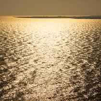 ◆夕陽にきらめく海◆