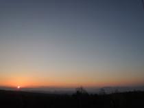 HAIJI近くから見える朝日