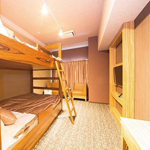 【客室】バンクツインルーム【二段ベットの客室です。最大4名様までご利用可能。】