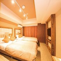 【客室】家族旅行ならツインルームがオススメです♪♪