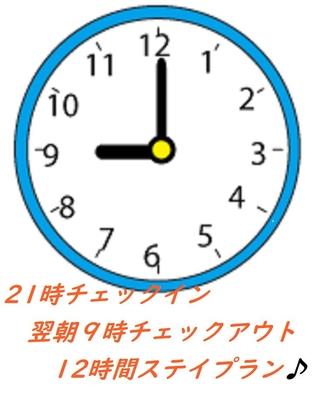 【21時チェックイン翌9時チェックアウト】ポイントUP!!レイトイン12時間ステイプラン【素泊】