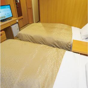 【ツインルーム】ベッド2台でくつろぎステイを♪