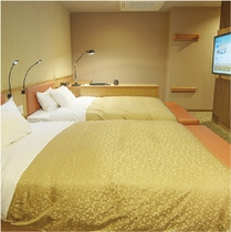 【デラックスツインルーム】広々ベッドでごゆっくり☆