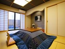大瑠璃 露天風呂付き和室(冬)