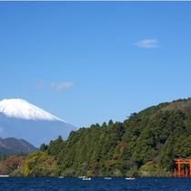 【周辺観光】芦ノ湖から望む富士山