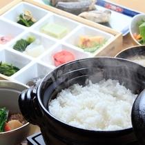 【ご朝食イメージ】お好みの硬さで炊き上げる窯炊きご飯