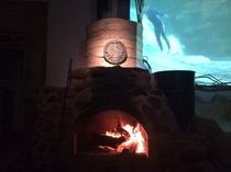 暖炉と映画
