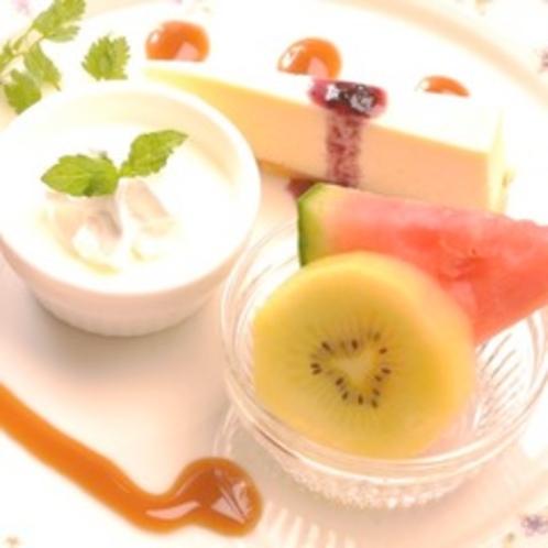 【夕食】デサートの盛り合わせ