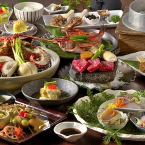 【ご夕食】伊豆の三大味覚を堪能する創作和会席料理