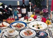 フルコース料理をお楽しみ下さい。