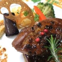 フランス産フォアグラ&黒毛和牛フィレステーキ