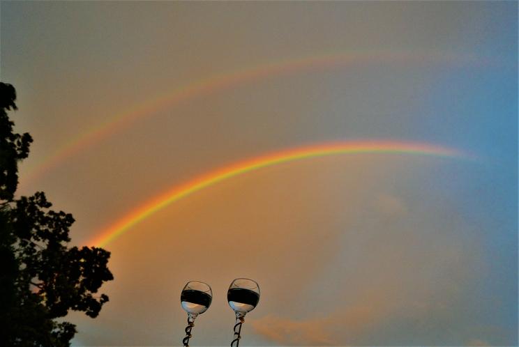 ダブルレインボー 虹