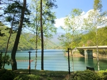 新緑の広瀬湖