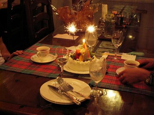 【記念日・誕生日】オーナーの手作りケーキでお祝い♪家族・カップルにおススメ♪高原で思い出に残る記念日