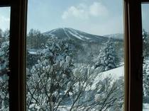 窓から安比高原雪景色